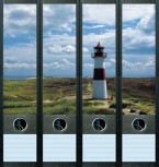 file art Ordner Etiketten - Lighthouse