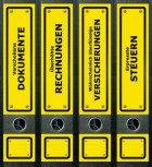 file art Ordner Etiketten - Yellow Signs